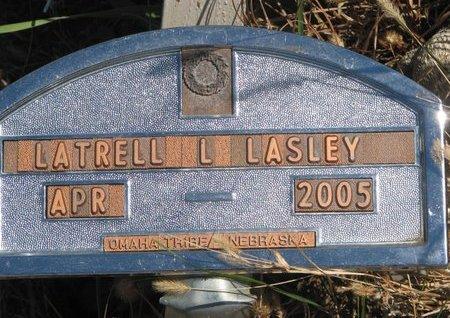 LASLEY, LATRELL L. - Thurston County, Nebraska | LATRELL L. LASLEY - Nebraska Gravestone Photos