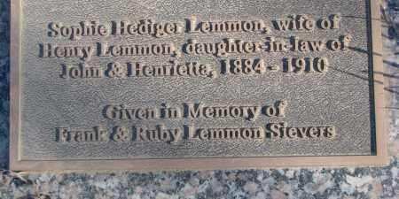 LEMMON, SOPHIE - Thurston County, Nebraska   SOPHIE LEMMON - Nebraska Gravestone Photos