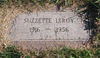 LEROY, SUZZETTE - Thurston County, Nebraska | SUZZETTE LEROY - Nebraska Gravestone Photos