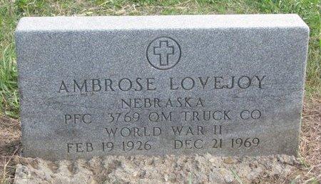 LOVEJOY, AMBROSE - Thurston County, Nebraska | AMBROSE LOVEJOY - Nebraska Gravestone Photos