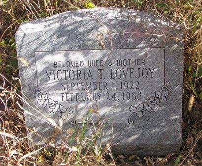 LOVEJOY, VICTORIA T. - Thurston County, Nebraska | VICTORIA T. LOVEJOY - Nebraska Gravestone Photos