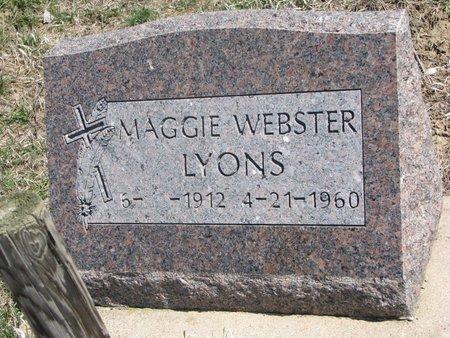 LYONS, MAGGIE - Thurston County, Nebraska   MAGGIE LYONS - Nebraska Gravestone Photos