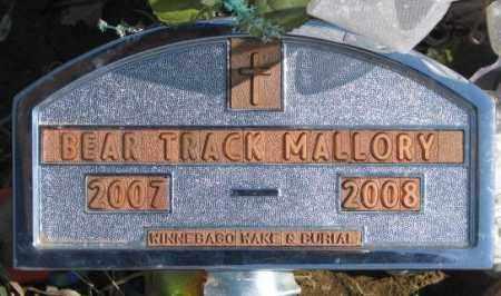 MALLORY, BEAR TRACK - Thurston County, Nebraska   BEAR TRACK MALLORY - Nebraska Gravestone Photos