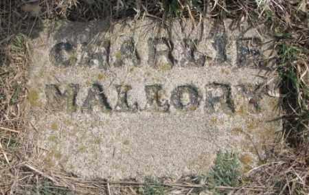 MALLORY, CHARLIE - Thurston County, Nebraska | CHARLIE MALLORY - Nebraska Gravestone Photos