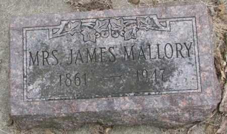 MALLORY, MRS. JAMES - Thurston County, Nebraska | MRS. JAMES MALLORY - Nebraska Gravestone Photos