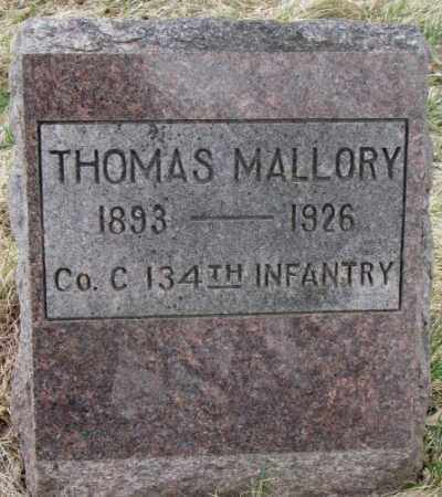 MALLORY, THOMAS - Thurston County, Nebraska | THOMAS MALLORY - Nebraska Gravestone Photos