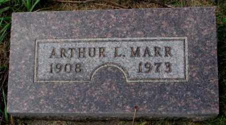 MARR, ARTHUR L. - Thurston County, Nebraska | ARTHUR L. MARR - Nebraska Gravestone Photos