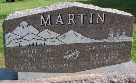 MARTIN, CARL FRANKLIN - Thurston County, Nebraska | CARL FRANKLIN MARTIN - Nebraska Gravestone Photos