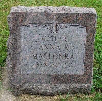MASLONKA, ANNA K. - Thurston County, Nebraska | ANNA K. MASLONKA - Nebraska Gravestone Photos