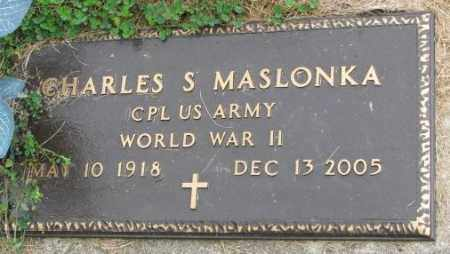 MASLONKA, CHARLES S. (WW II) - Thurston County, Nebraska | CHARLES S. (WW II) MASLONKA - Nebraska Gravestone Photos
