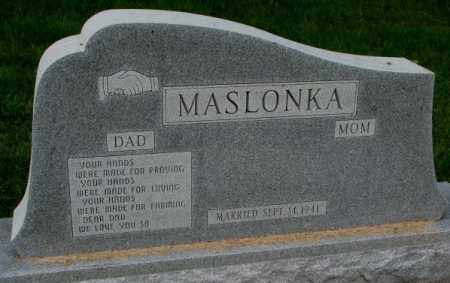 MASLONKA, DAD - Thurston County, Nebraska | DAD MASLONKA - Nebraska Gravestone Photos