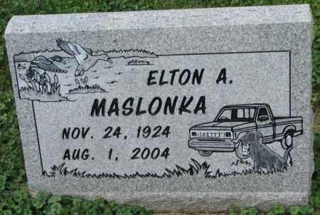 MASLONKA, ELTON A. - Thurston County, Nebraska | ELTON A. MASLONKA - Nebraska Gravestone Photos