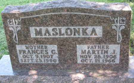 MASLONKA, FRANCES G. - Thurston County, Nebraska | FRANCES G. MASLONKA - Nebraska Gravestone Photos