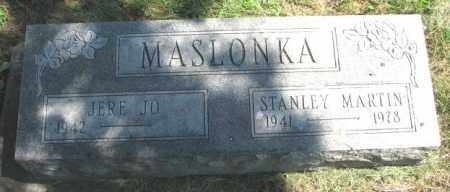 MASLONKA, STANLEY MARTIN - Thurston County, Nebraska   STANLEY MARTIN MASLONKA - Nebraska Gravestone Photos