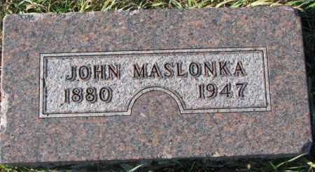 MASLONKA, JOHN - Thurston County, Nebraska   JOHN MASLONKA - Nebraska Gravestone Photos