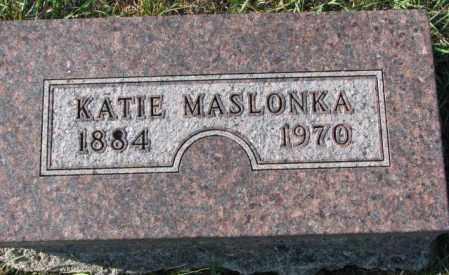 MASLONKA, KATIE - Thurston County, Nebraska | KATIE MASLONKA - Nebraska Gravestone Photos