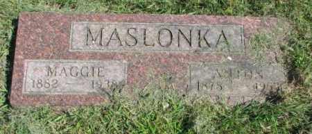 MASLONKA, ANTON - Thurston County, Nebraska | ANTON MASLONKA - Nebraska Gravestone Photos