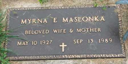 MASLONKA, MYRNA E. - Thurston County, Nebraska | MYRNA E. MASLONKA - Nebraska Gravestone Photos