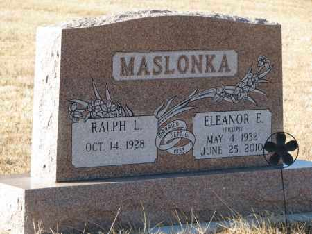MASLONKA, RALPH L. - Thurston County, Nebraska | RALPH L. MASLONKA - Nebraska Gravestone Photos