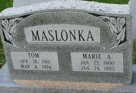 MASLONKA, TOM - Thurston County, Nebraska | TOM MASLONKA - Nebraska Gravestone Photos