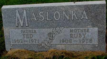 MASLONKA, TED - Thurston County, Nebraska | TED MASLONKA - Nebraska Gravestone Photos