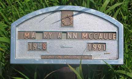 MCCAULEY, MARY ANN - Thurston County, Nebraska | MARY ANN MCCAULEY - Nebraska Gravestone Photos