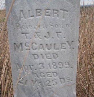 MCCAULEY, ALBERT (CLOSE UP) - Thurston County, Nebraska | ALBERT (CLOSE UP) MCCAULEY - Nebraska Gravestone Photos