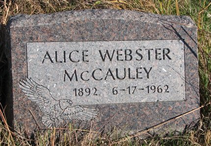 WEBSTER MCCAULEY, ALICE - Thurston County, Nebraska | ALICE WEBSTER MCCAULEY - Nebraska Gravestone Photos