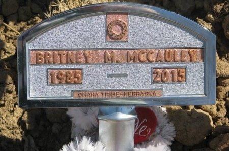 MCCAULEY, BRITNEY M. - Thurston County, Nebraska | BRITNEY M. MCCAULEY - Nebraska Gravestone Photos