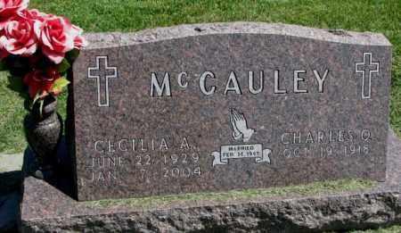 MCCAULEY, CHARLES O. - Thurston County, Nebraska | CHARLES O. MCCAULEY - Nebraska Gravestone Photos