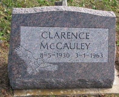 MCCAULEY, CLARENCE - Thurston County, Nebraska | CLARENCE MCCAULEY - Nebraska Gravestone Photos