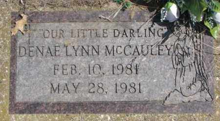 MCCAULEY, DENAE LYNN - Thurston County, Nebraska | DENAE LYNN MCCAULEY - Nebraska Gravestone Photos