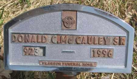 MCCAULEY, DONALD C. SR. - Thurston County, Nebraska | DONALD C. SR. MCCAULEY - Nebraska Gravestone Photos