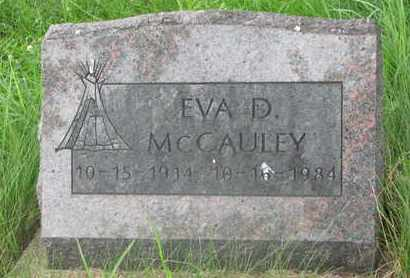 MCCAULEY, EVA D. - Thurston County, Nebraska | EVA D. MCCAULEY - Nebraska Gravestone Photos