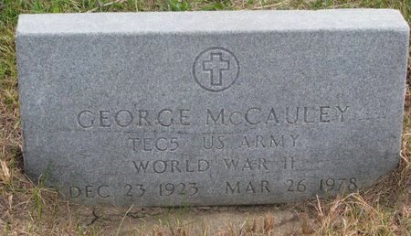 MCCAULEY, GEORGE - Thurston County, Nebraska | GEORGE MCCAULEY - Nebraska Gravestone Photos