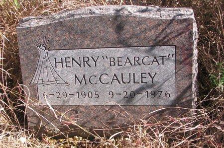 """MCCAULEY, HENRY """"BEARCAT"""" - Thurston County, Nebraska   HENRY """"BEARCAT"""" MCCAULEY - Nebraska Gravestone Photos"""