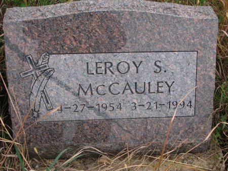 MCCAULEY, LEROY S. - Thurston County, Nebraska | LEROY S. MCCAULEY - Nebraska Gravestone Photos