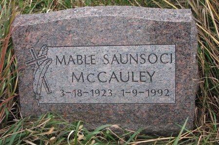 MCCAULEY, MABLE - Thurston County, Nebraska   MABLE MCCAULEY - Nebraska Gravestone Photos
