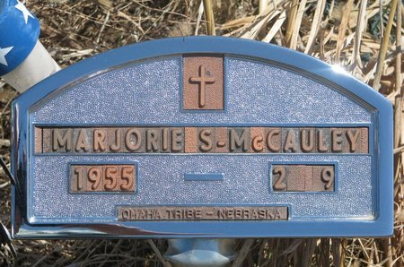 MCCAULEY, MARJORIE S. - Thurston County, Nebraska | MARJORIE S. MCCAULEY - Nebraska Gravestone Photos