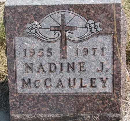 MCCAULEY, NADINE J. - Thurston County, Nebraska   NADINE J. MCCAULEY - Nebraska Gravestone Photos