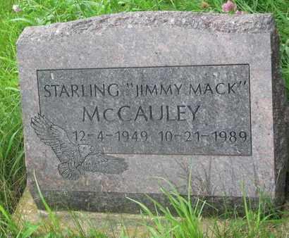 "MCCAULEY, STARLING ""JIMMY MACK"" - Thurston County, Nebraska | STARLING ""JIMMY MACK"" MCCAULEY - Nebraska Gravestone Photos"