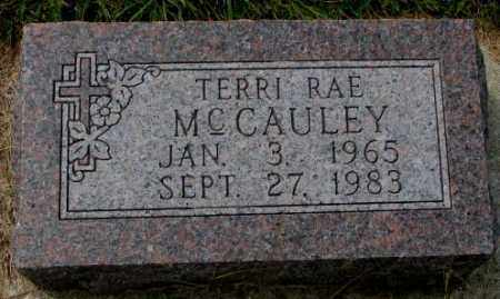 MCCAULEY, TERRI RAE - Thurston County, Nebraska | TERRI RAE MCCAULEY - Nebraska Gravestone Photos