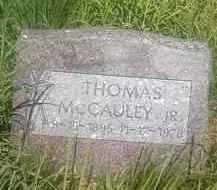MCCAULEY, THOMAS JR. - Thurston County, Nebraska | THOMAS JR. MCCAULEY - Nebraska Gravestone Photos