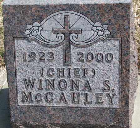 MCCAULEY, WINONA S. - Thurston County, Nebraska | WINONA S. MCCAULEY - Nebraska Gravestone Photos