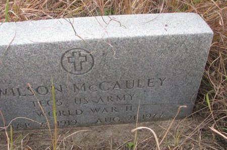 MCCAULEY, WILSON (MILITARY) - Thurston County, Nebraska   WILSON (MILITARY) MCCAULEY - Nebraska Gravestone Photos