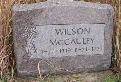 MCCAULEY, WILSON - Thurston County, Nebraska   WILSON MCCAULEY - Nebraska Gravestone Photos