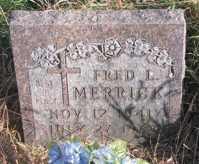 MERRICK, FRED L. - Thurston County, Nebraska | FRED L. MERRICK - Nebraska Gravestone Photos