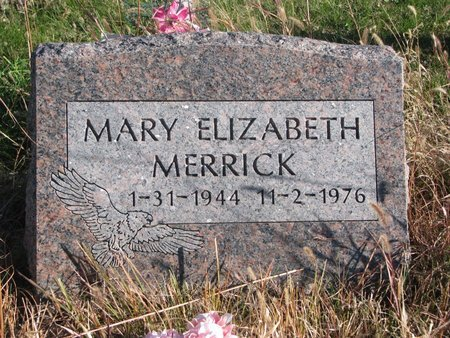 MERRICK, MARY ELIZABETH - Thurston County, Nebraska | MARY ELIZABETH MERRICK - Nebraska Gravestone Photos