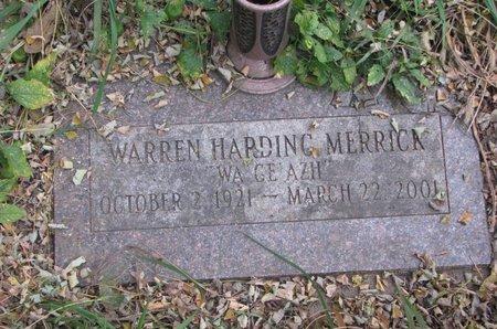 MERRICK, WARREN HARDING - Thurston County, Nebraska | WARREN HARDING MERRICK - Nebraska Gravestone Photos