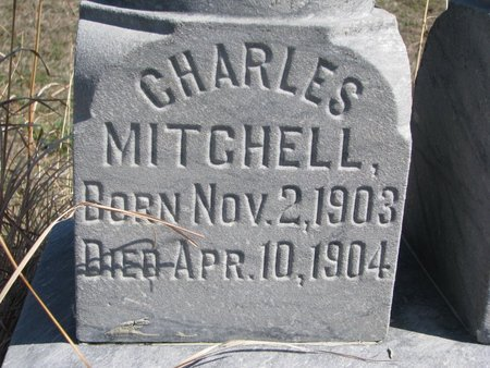 MITCHELL, CHARLES (CLOSE UP) - Thurston County, Nebraska   CHARLES (CLOSE UP) MITCHELL - Nebraska Gravestone Photos